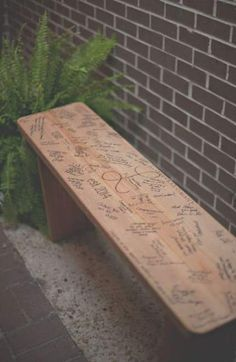 Wedding Guest Book Bench House 70 Ideas For 2019 Wedding Gue. Wedding Guest Book Bench House 70 Ideas For 2019 Wedding Guest Book Bench House 70 Ideas For 2019 Rustic Wedding Guest Book, Wedding Book, Wedding Signs, Wedding Ideas, Guest Book Ideas For Wedding, Wedding Tables, Diy Wedding Benches, Unique Guest Book Ideas, Wedding List