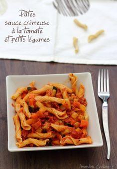 Sauce crémeuse à la tomates, légumes et chorizo (pour pâtes, riz, semoule...)