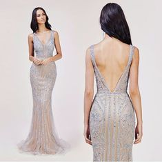 This nude and silver stunner is heaven 🙌🏼 Great Gatsby Prom Dresses, Nude Prom Dresses, Gold Bridesmaid Dresses, Prom Outfits, Beautiful Prom Dresses, Wedding Party Dresses, Homecoming Dresses, Formal Dresses, Bridesmaids