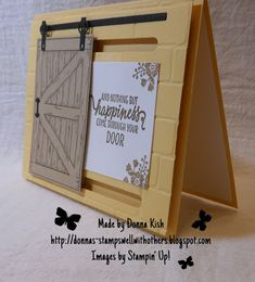Stamps Well With Others: Barn Door Blessings Card Making Tutorials, Card Making Techniques, Fancy Fold Cards, Folded Cards, Barn Door Sliders, Slider Cards, Interactive Cards, Stamping Up Cards, Greeting Cards Handmade