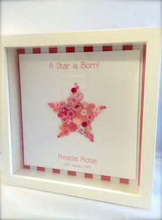 A personal favorite from my Etsy shop https://www.etsy.com/listing/228531909/handmade-box-framed-a-star-is-born-baby