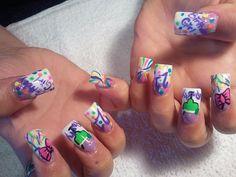 My Birthday nails Fabulous Nails, Gorgeous Nails, 21st Birthday Nails, Birthday Stuff, Birthday Nail Designs, Nail Games, Nail Art Designs, Beauty, Strong