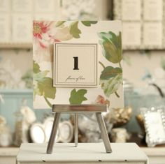 table card with floral backing www.bohemiandreams.co.uk