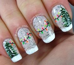 43 best Christmas Lights Nail Art Designs images on Pinterest ...
