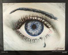 """Daydreamer"" Mini. Acrylic on Canvas (7"" x 9"" / 18 x 23cm panel)."