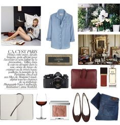 {style inspiration | chic in chambray : with a white blazer} by {this is glamorous}, via Flickr