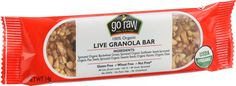 Go Raw Bar - Organic - Live Granola - .493 oz - Case of 10