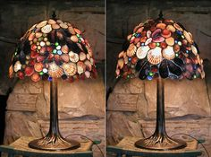 Combining my favorite things; stained glass & sea shells. Annie's Seashell Ideas