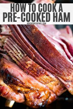 Easy tips and steps with everything you've ever wanted to know about how to cook a pre-cooked ham. Baked ham recipe with a simple glaze. Pre Cooked Ham Recipes, Easy Ham Recipes, Beef Casserole Recipes, Already Cooked Ham Recipe, Oven Cooked Ham, Entree Recipes, Roast Recipes, Dinner Recipes, Baked Spiral Ham Recipe