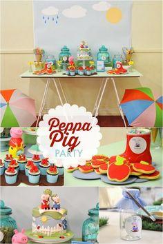 Peppa Pig boy's birthday party ideas www.spaceshipsandlaserbeams.com