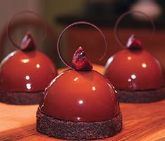 Josh Johnson, Sur del Lago Chocolate Mousse, Chocolate Cremeux, Cherry Compote & Chocolate Pound Cake.