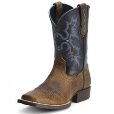 Ariat Kid�s Tombstone Boots Distressed Earth Brown with Black TopsAriat style 10012794 is part of their Tombstone collection. The Distressed Earth Brown leather is perfect for the little buckaroos that can�t live without a pair of boots on their feet, because the leather is easily maintained. Simply brush off the dirt and apply an application of leather conditioner such as Apache Cream when th...