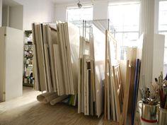 Claudia Aronow's studio.  New York Social Diary