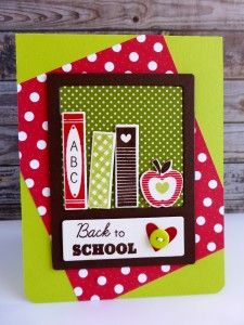 Back to School Card Featuring Papertrey Ink Dies and stamps