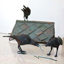 The Nest Builders, 2010 Bronze Each crow measuring x x Ryan Livingstone Livingstone, Crow, Nest, Bronze, Fashion, Nest Box, Moda, Ravens, Fashion Styles