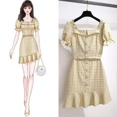 Girls Fashion Clothes, Teen Fashion Outfits, Cute Fashion, Stylish Outfits, Cute Outfits, Fashion Drawing Dresses, Fashion Illustration Dresses, Fashion Dresses, Dress Sketches