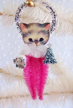Vintage Kitten Ornament 2