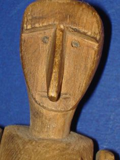 Primitive Wooden Dancing Folk Art Doll Nice Patina from romancingthedoll on Ruby Lane