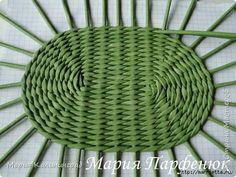 Cómo tejer base ovalada para las cestas de periódicos