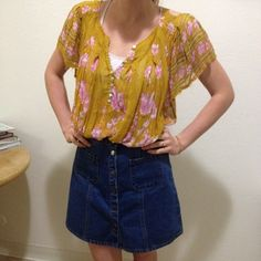 Free People Tops - Free People boho loose top size small