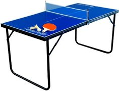 8986ed343 Park   Sun Sports Indoor Outdoor Mini Table Tennis Table with 2 Rackets  Paddles and Balls. Mini Ping Pong ...