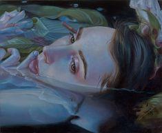 Dreamlike Paintings by Kari-Lise Alexander – Fubiz Media Painting Inspiration, Art Inspo, Ophelia Painting, Arte Black, Guache, A Level Art, Pop Surrealism, Art Reference, Fantasy Art