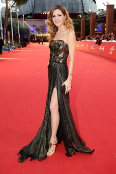 Elisabetta Pellini attends the awards ceremony red carpet during the 9th Rome Film Festival at Auditorium Parco Della Musica on October 25, 2014 in Rome, Italy.