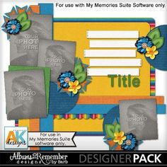 Digital Scrapbooking Kits | AK 13 Rainbow Template-(Alb2Rem) | Boys, Everyday, Family, Girls | MyMemories
