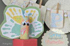 Crafts with Kids: Spring Handprint Butterflies