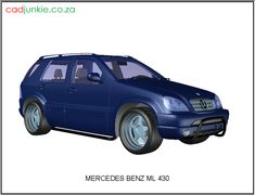 CAD Format: AutoCAD 2013 Block Type: 3D Mesh Units: mm Description: Mercedes Benz ML 430 Autocad, Mercedes Benz Ml, 3d Mesh, 3d Cad Models, Cad Blocks, 3 D, Transportation, The Unit, Type