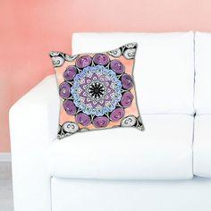 WISDOM DIY Mandala Pillow Color Your Own Mandala by Exaltation