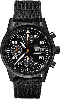 Chronograph Modern watch from Swiss Watchmaker Maurice de Mauriac. Swiss watches for men. Visit our website for more luxury swiss watches: http://www.mauricedemauriac.ch/