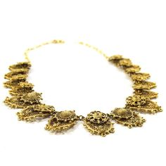 Etruscan Necklace by Indo Craft / Rice Weiner Gold by SpunkVintage