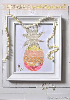 Pineapple Washi tape print diy