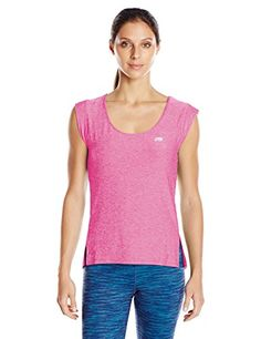 Marika Womens CrossTrain Tee Heather Pink Glow Medium ** Read more reviews of the product by visiting the link on the image.