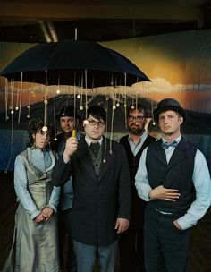 The Decemberists: Jenny Conley, Chris Funk, Colin Meloy, John Moen, and Nate Query. Best. Band. Ever.