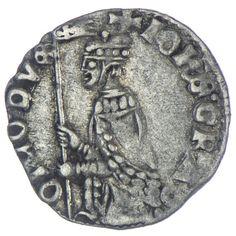 Soldino o. J. Republik Venedig,  Av: Doge kniet nach links und hält das Banner, Rv: Löwe aufrecht nach links
