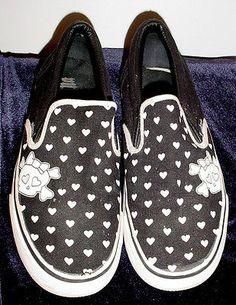 Women's 8 1/2 Punkrose Black Canvas Slip-on Sneakers i used to have theseeeee