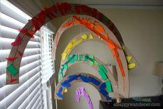 a happy wanderer: colors: building a rainbow...