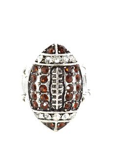 Crystal Football Ring Adjustable Stretch Band Silver Tone Athletics Sports Fashion Jewelry >>> Sincerely hope you love the photo. (This is an affiliate link) Football Rings, Stretch Bands, Us Images, Sport Fashion, Athletics, Band Rings, Photograph, Fashion Jewelry, Crystals