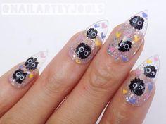 18 Miyazaki Nail Art Designs That Will Blow You Away Funky Nails, Cute Nails, Minx Nails, Gel Nails, Nail Polish, Stylish Nails, Trendy Nails, Kawaii Nail Art, Anime Nails