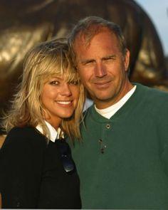 Kevin Costner and his beautiful wife Christine Baumgartner (german model and handbag designer) - married in Aspen, Colorado September 2004