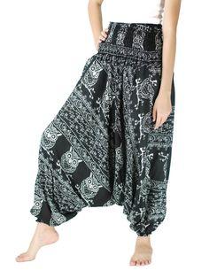 Unisex Harem pants Owl print baggy pants /Hippies pants by NaLuck
