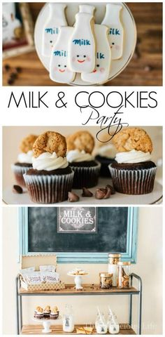 This cookies and milk party is one that everyone will love! Whether you do it for a birthday or another fun celebration, it is sure to be a hit! Get all the decor, food and party ideas here. | fun kids party ideas | cookies and milk party theme | party th