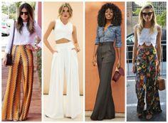 100 looks com calça Pantalona (Veja como usar!)