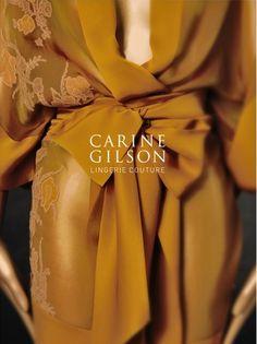 Carine Gilson kimono robe. Love the rich color.
