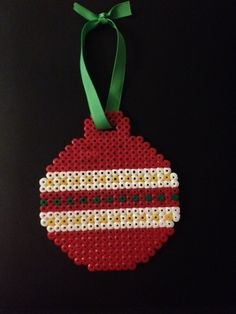 Hama Bead Christmas Bauble ∙ How To by Annie L. on Cut Out + Keep