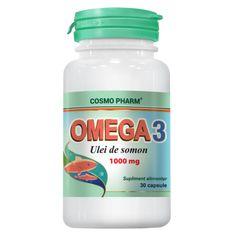 OMEGA 3 ULEI DE SOMON 1+1 gratis PROMO | Naturselect.ro E-Nutritie Omega 3, Coconut Oil, Jar, Jars, Glass