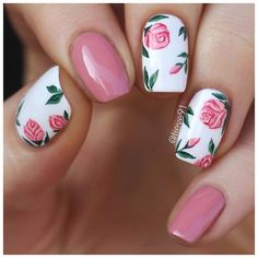 you should stay updated with latest nail art designs, nail colors, acrylic nails… – Beauty ideas Different Nail Designs, Pink Nail Designs, Nail Designs Spring, Nails Design, Rose Nail Design, Flower Nail Designs, Nails With Flower Design, Nail Design For Short Nails, Tropical Nail Designs