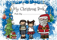 FREE! A personalized Christmas little book for children in pre-k and kindergarten. Read, write, color, cut and bind the pages!